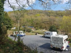 caravan pitches at nyth robin