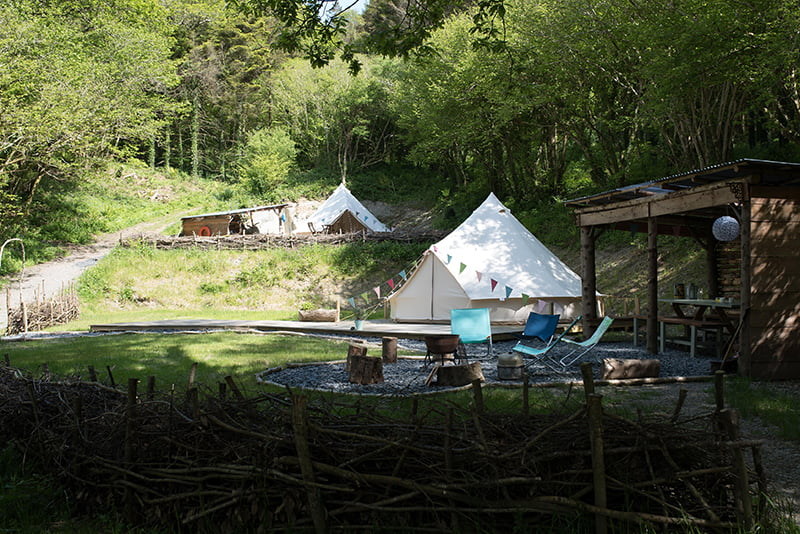bell tent glamping aberdovey