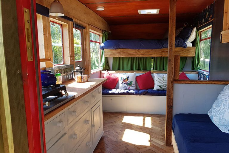 glamping horse box beds